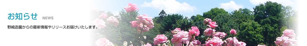 お知らせ 野崎造園からの最新情報やリリースお届けいたします。