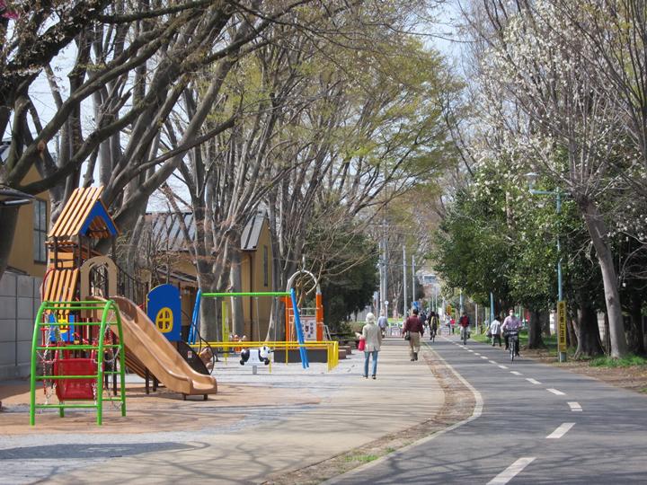 狭山・境緑道 園路改修工事 平成26年2月竣工